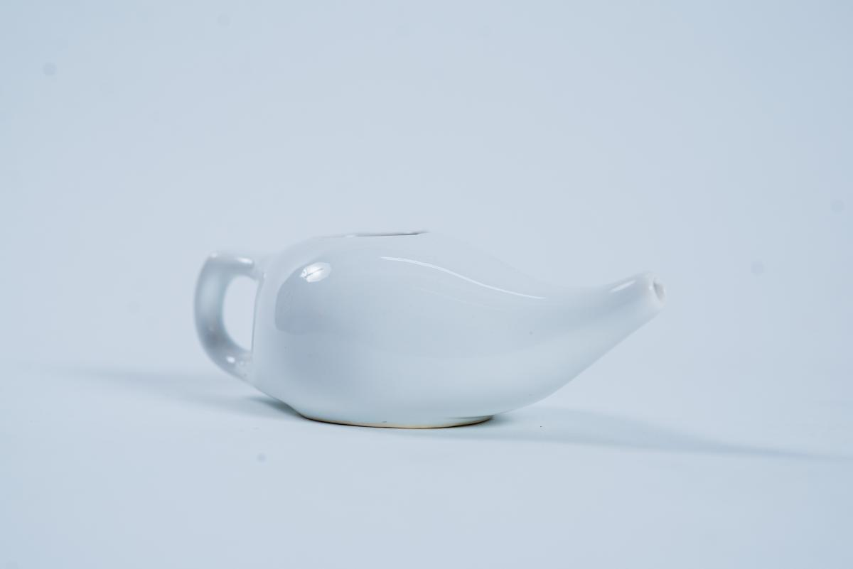 Vas Jala Neti ceramică, alb