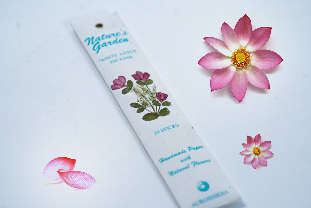Bețișoare parfumate naturale premium, Lotus Alb