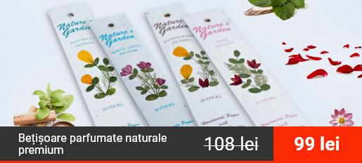 Bețișoare parfumate naturale premium, Trandafir, Patchouli, Lotus Alb, Lemn de Santal – Pachet 4 Arome